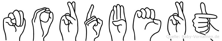 Nordbert in Fingersprache für Gehörlose