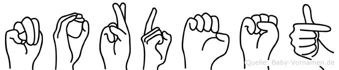 Nordest in Fingersprache für Gehörlose
