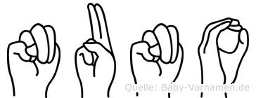 Nuno im Fingeralphabet der Deutschen Gebärdensprache