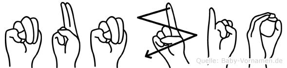 Nunzio im Fingeralphabet der Deutschen Gebärdensprache