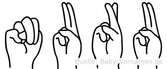 Nuru in Fingersprache für Gehörlose