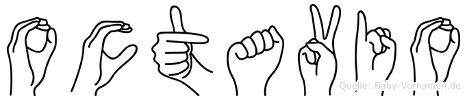 Octavio im Fingeralphabet der Deutschen Gebärdensprache