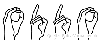 Oddo in Fingersprache für Gehörlose