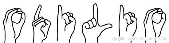Odilio in Fingersprache für Gehörlose