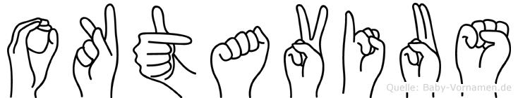 Oktavius im Fingeralphabet der Deutschen Gebärdensprache