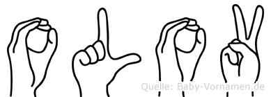 Olov im Fingeralphabet der Deutschen Gebärdensprache