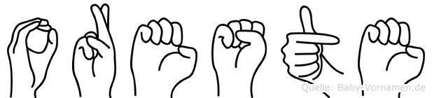 Oreste im Fingeralphabet der Deutschen Gebärdensprache