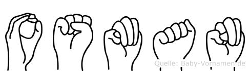 Osman im Fingeralphabet der Deutschen Gebärdensprache