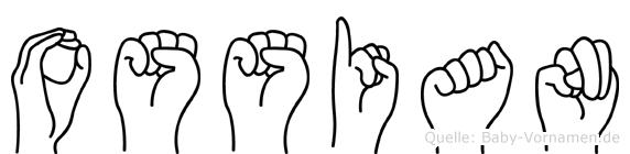 Ossian in Fingersprache für Gehörlose