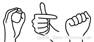 Ota in Fingersprache für Gehörlose