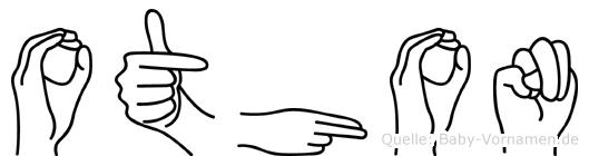 Othon im Fingeralphabet der Deutschen Gebärdensprache