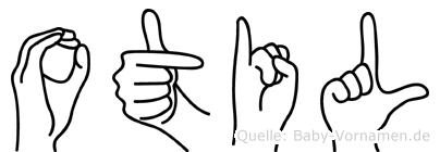Otil in Fingersprache für Gehörlose