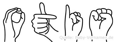 Otis im Fingeralphabet der Deutschen Gebärdensprache