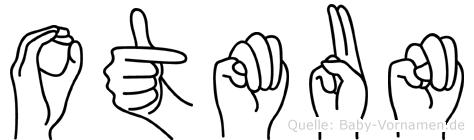 Otmun im Fingeralphabet der Deutschen Gebärdensprache