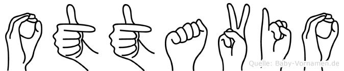 Ottavio im Fingeralphabet der Deutschen Gebärdensprache