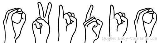 Ovidio im Fingeralphabet der Deutschen Gebärdensprache