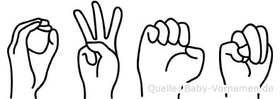 Owen im Fingeralphabet der Deutschen Gebärdensprache