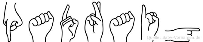 Padraig in Fingersprache für Gehörlose