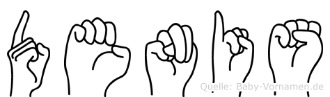 Denis in Fingersprache für Gehörlose