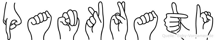 Pankrati in Fingersprache für Gehörlose