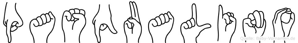 Pasqualino im Fingeralphabet der Deutschen Gebärdensprache
