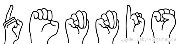 Dennis in Fingersprache für Gehörlose