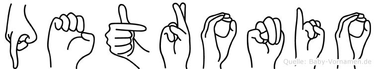 Petronio in Fingersprache für Gehörlose