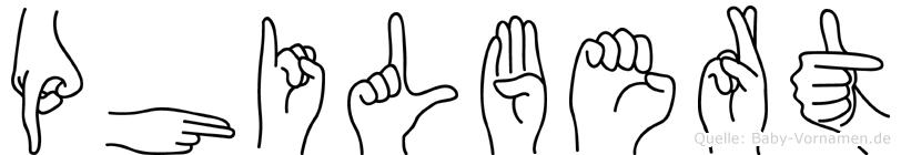 Philbert im Fingeralphabet der Deutschen Gebärdensprache