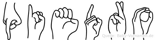 Piedro im Fingeralphabet der Deutschen Gebärdensprache