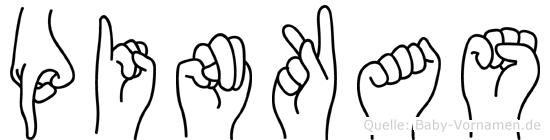Pinkas in Fingersprache für Gehörlose