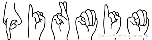 Pirmin im Fingeralphabet der Deutschen Gebärdensprache