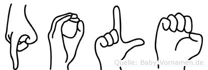 Pole in Fingersprache für Gehörlose