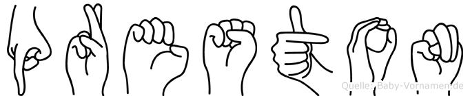 Preston in Fingersprache für Gehörlose