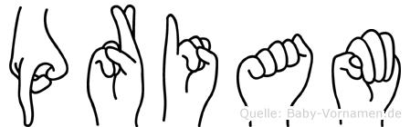 Priam im Fingeralphabet der Deutschen Gebärdensprache