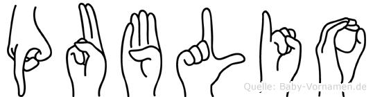 Publio in Fingersprache für Gehörlose