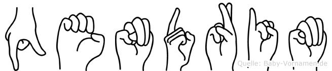 Qendrim im Fingeralphabet der Deutschen Gebärdensprache