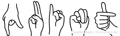 Quint im Fingeralphabet der Deutschen Gebärdensprache