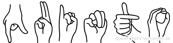 Quinto in Fingersprache für Gehörlose