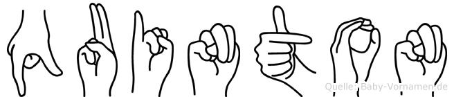 Quinton in Fingersprache für Gehörlose