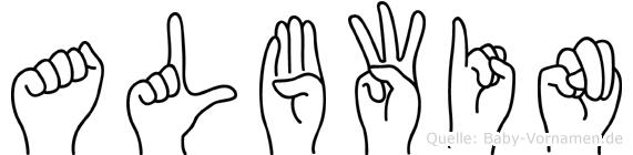 Albwin in Fingersprache für Gehörlose