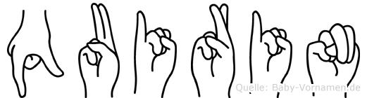 Quirin im Fingeralphabet der Deutschen Gebärdensprache
