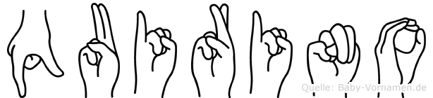 Quirino im Fingeralphabet der Deutschen Gebärdensprache