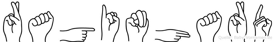 Raginhard im Fingeralphabet der Deutschen Gebärdensprache