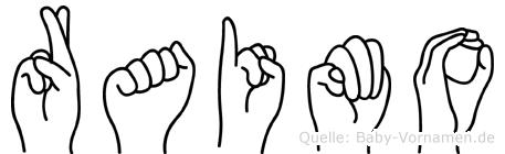 Raimo im Fingeralphabet der Deutschen Gebärdensprache