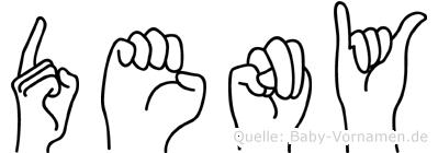 Deny in Fingersprache für Gehörlose