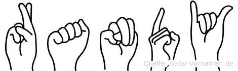 Randy in Fingersprache für Gehörlose