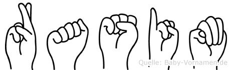 Rasim in Fingersprache für Gehörlose