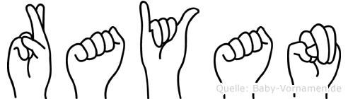 Rayan im Fingeralphabet der Deutschen Gebärdensprache