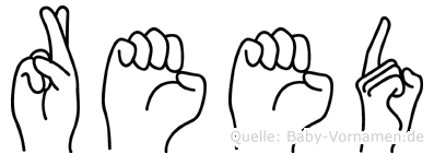Reed im Fingeralphabet der Deutschen Gebärdensprache