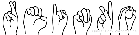 Reinko im Fingeralphabet der Deutschen Gebärdensprache